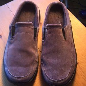 8 1/2 LL BEAN wide mules purple worn a few times